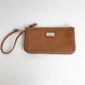 Nine West Med Wristlet Wallet Camel Brown Fall Bag